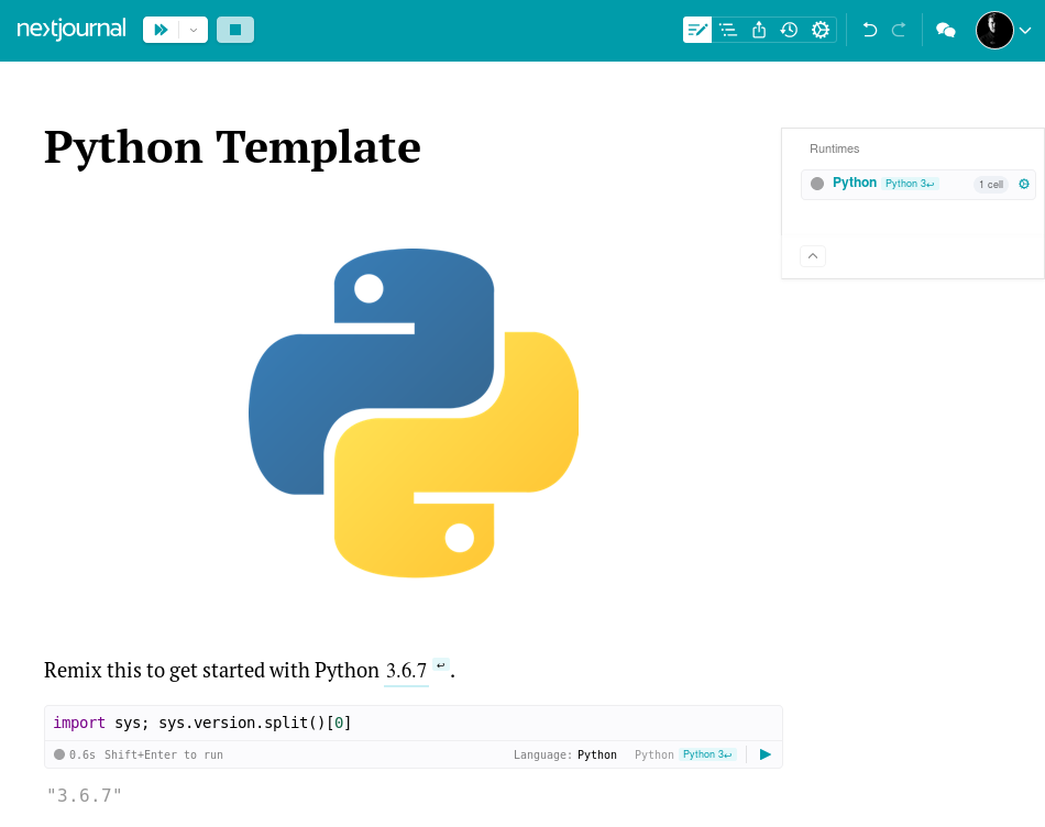 Python Documentation – Nextjournal