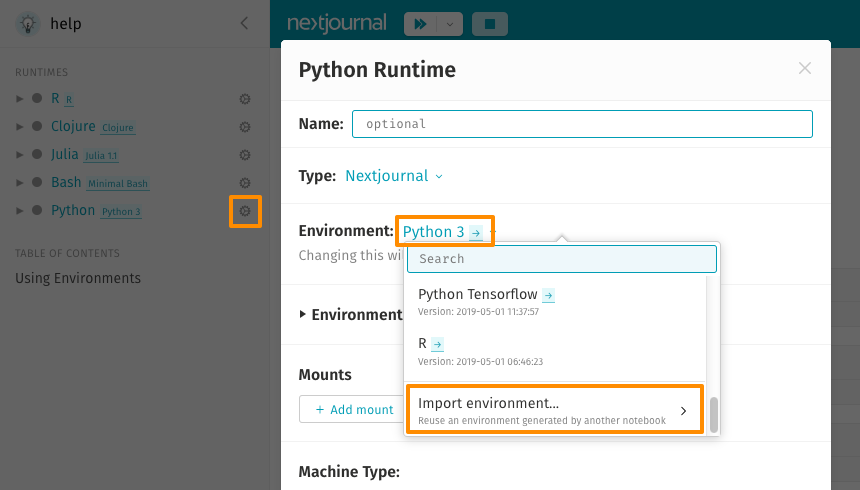 The Nextjournal Python Environment – Nextjournal
